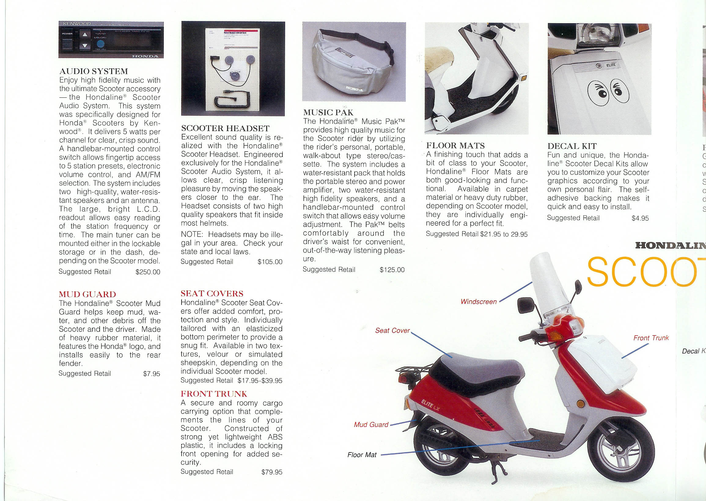General Honda Scooter Information 1987 Elite Wiring Motorcycle 1989 Accessories Page 2 Full Size