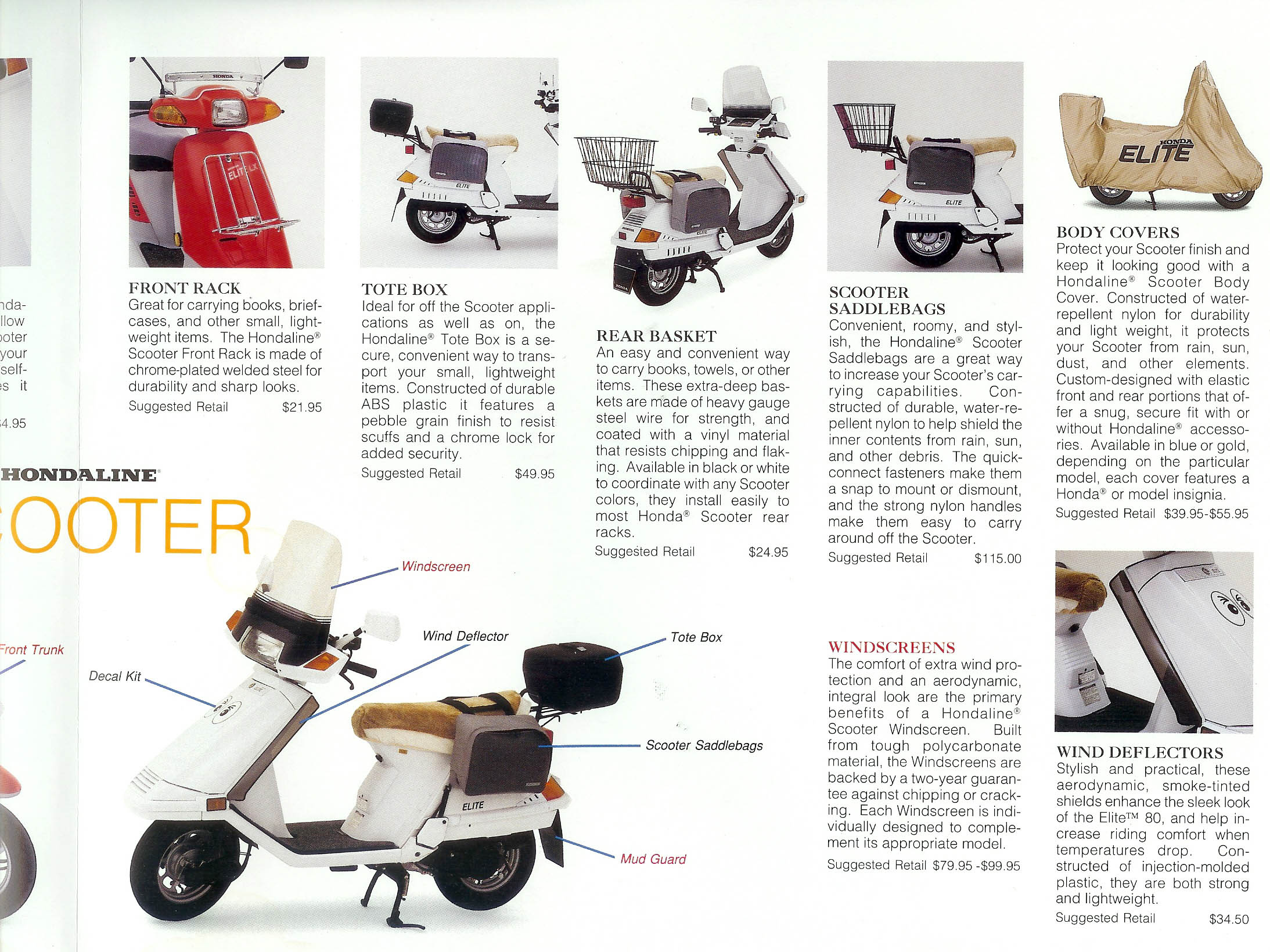 General Honda Scooter Information Na50 Wiring Diagram 1989 Accessories Page