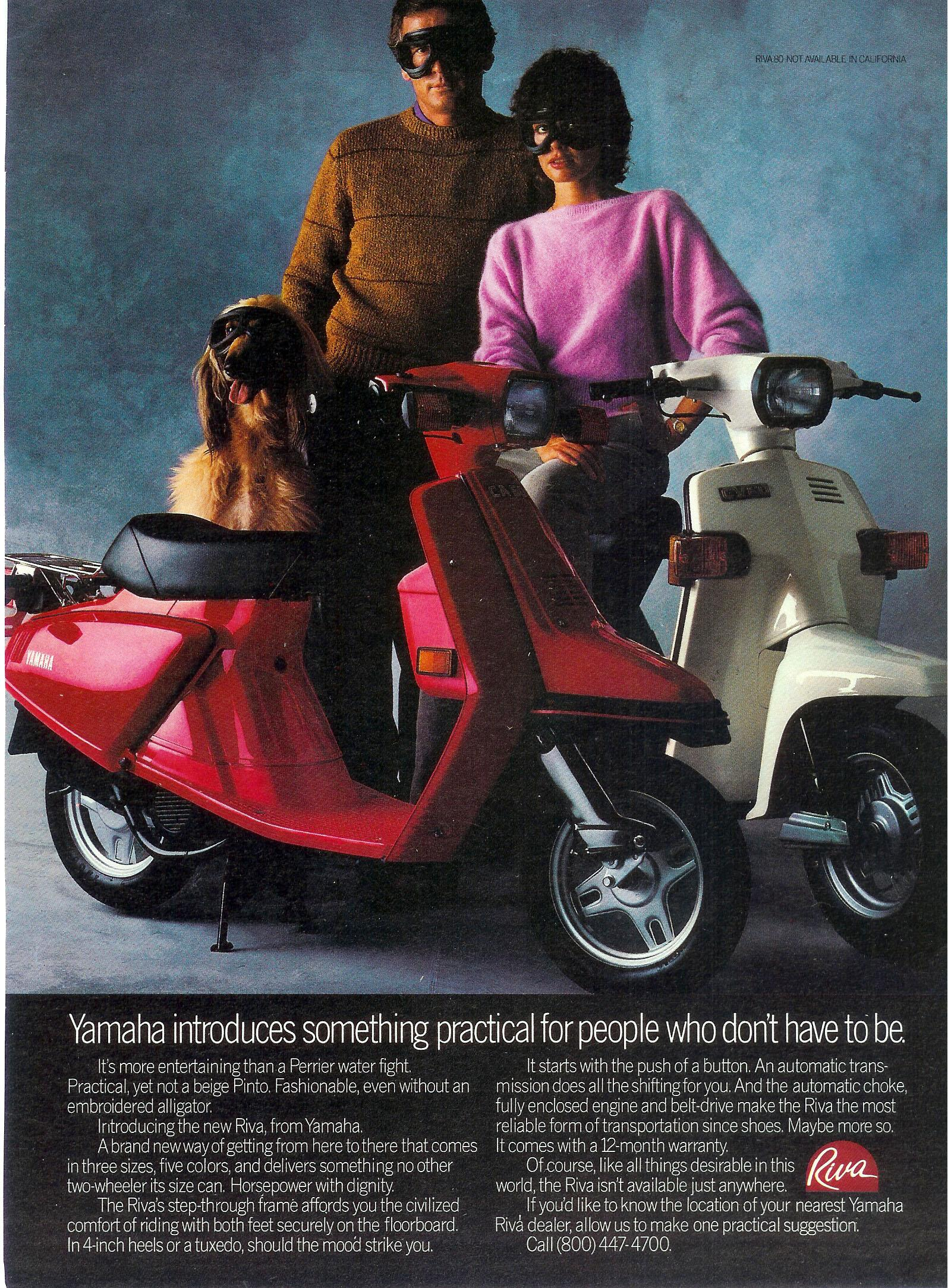 General Yamaha Scooter Information 1982 Suzuki Moped Riva 50 80 Full Size