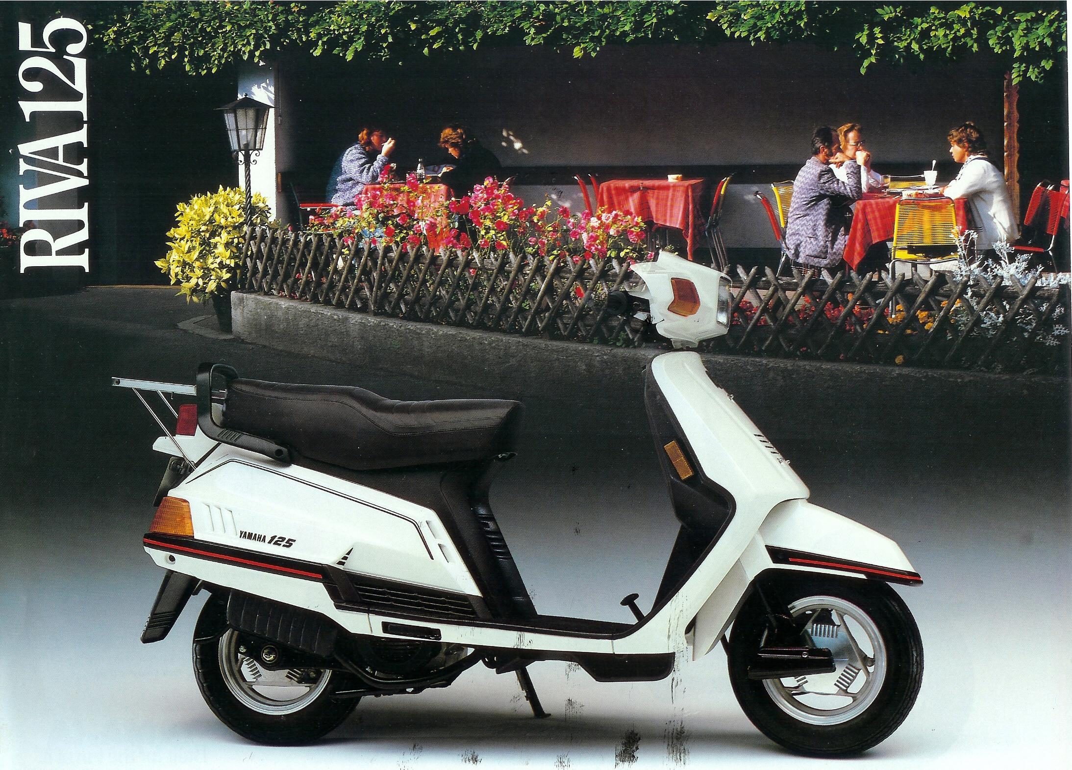 general yamaha scooter information  riva 125 front full size