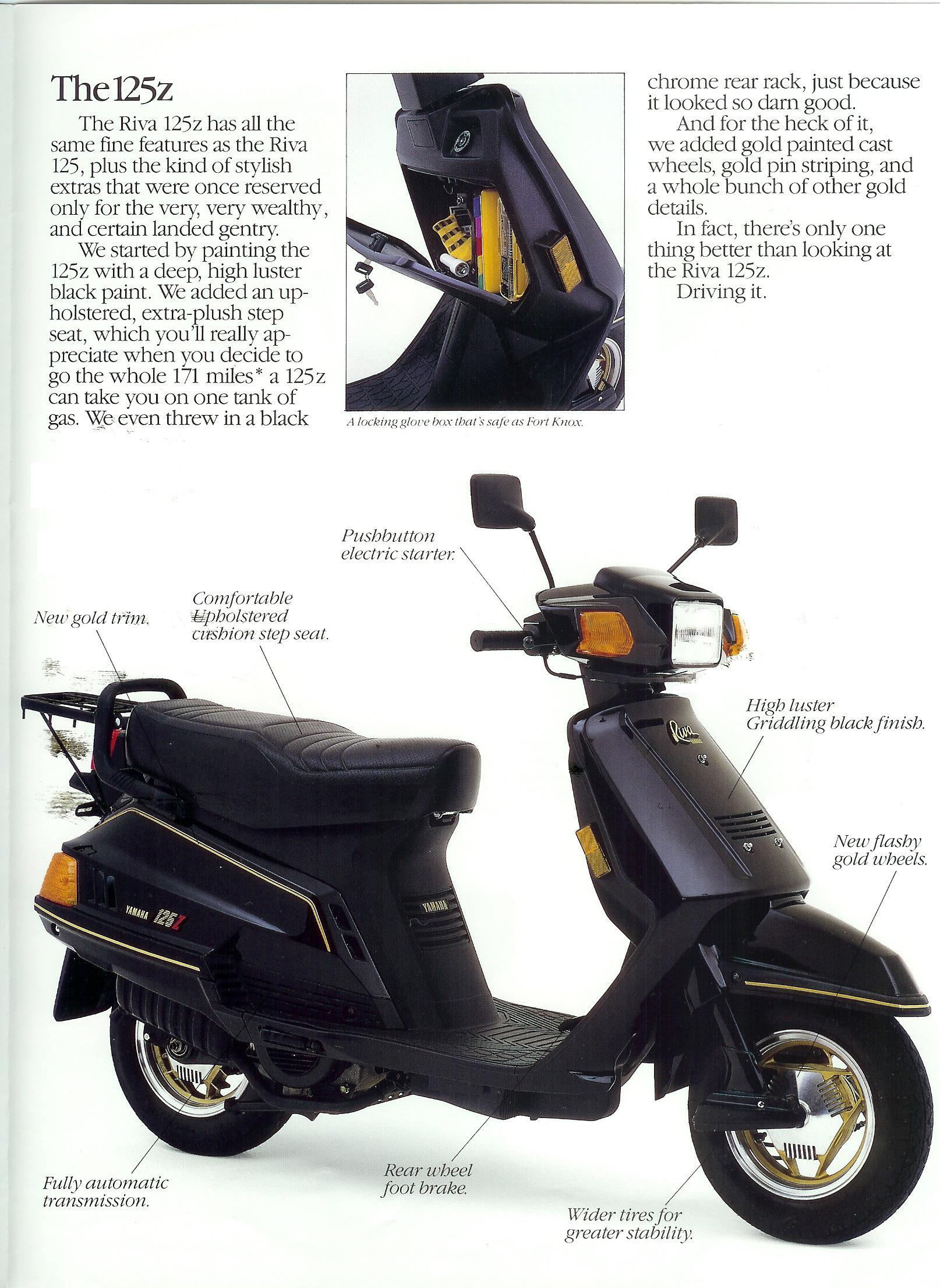 general yamaha scooter information  riva 125 125z page 3 full size