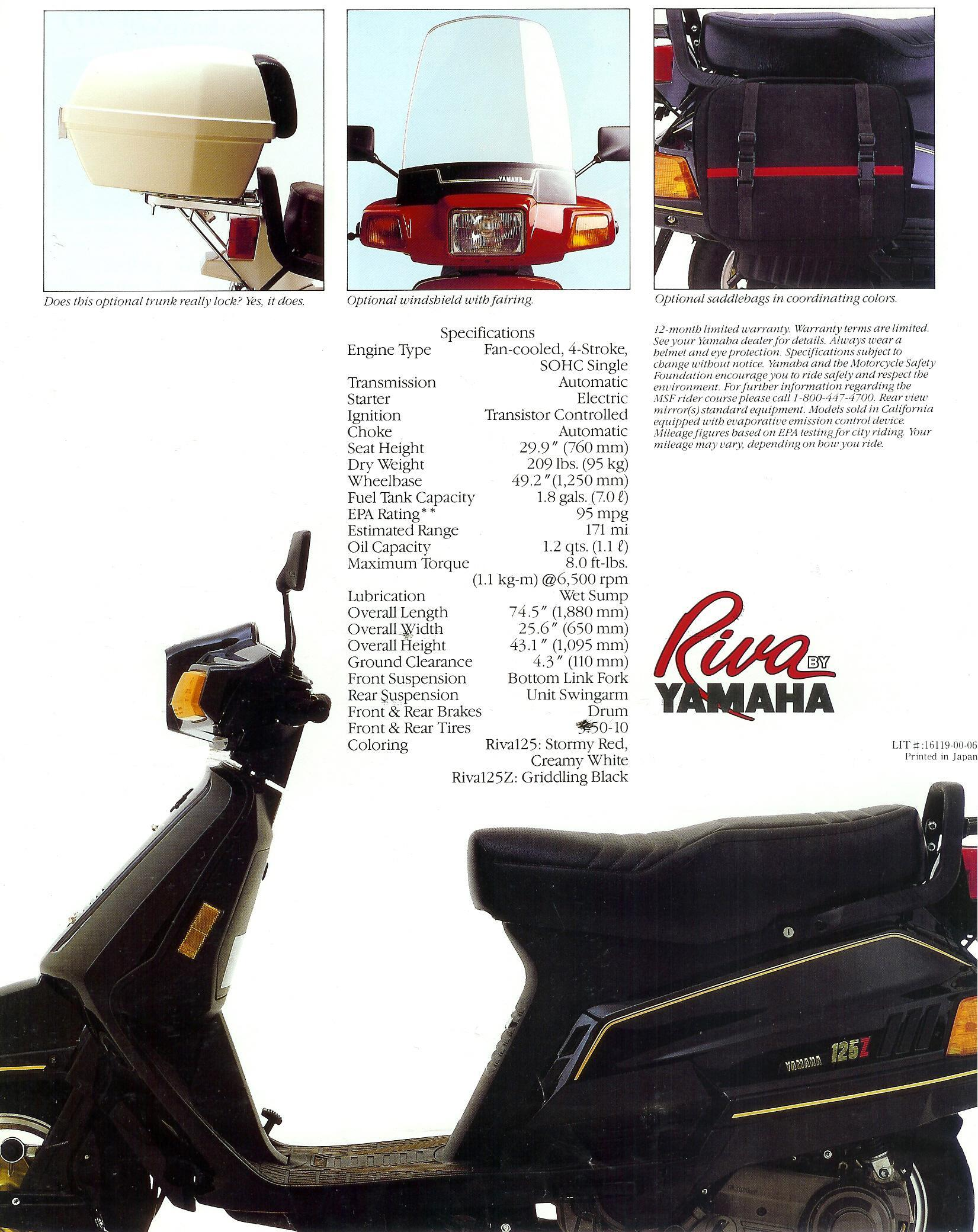 General Yamaha Scooter Information