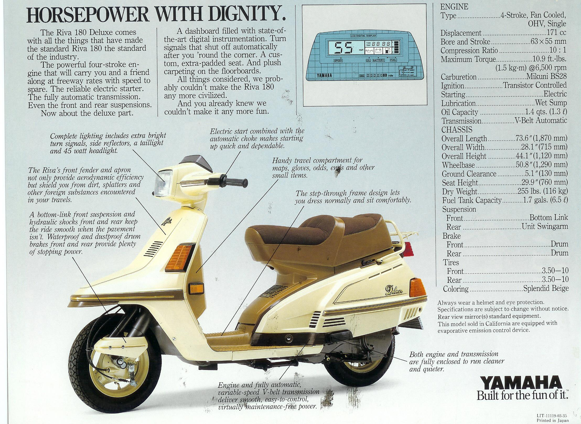 Yamaha Riva 180 200 Motor Scooter Guide Engine Diagrams Ad2