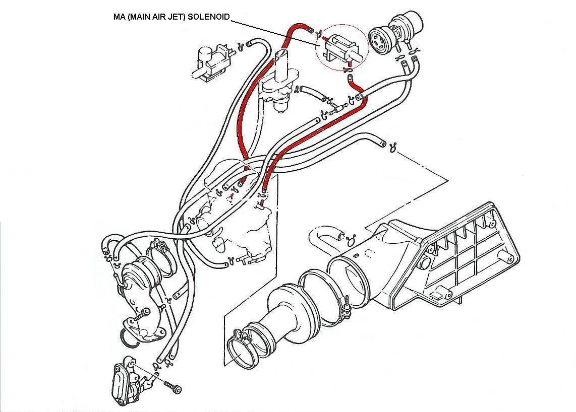 Yamaha Riva 180 Scooter Maintenance Tips Vacuum Solenoid Wiring Diagram Ma Hose Routing Main Air